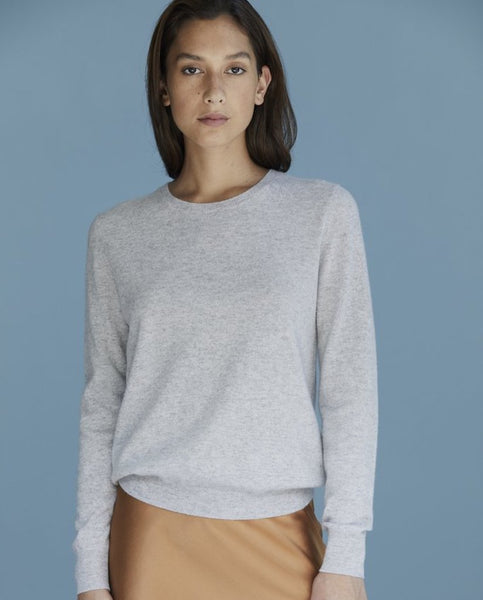 Laing Sam Cashmere Crew - Silver Marle