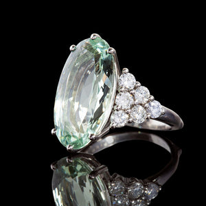 Aquamarine dress ring for Look Good Feel Better charity