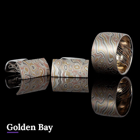 Golden Bay Mokume Gane