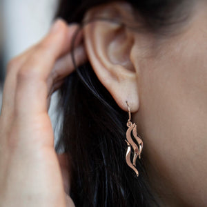 River earring - 14ct Rose gold