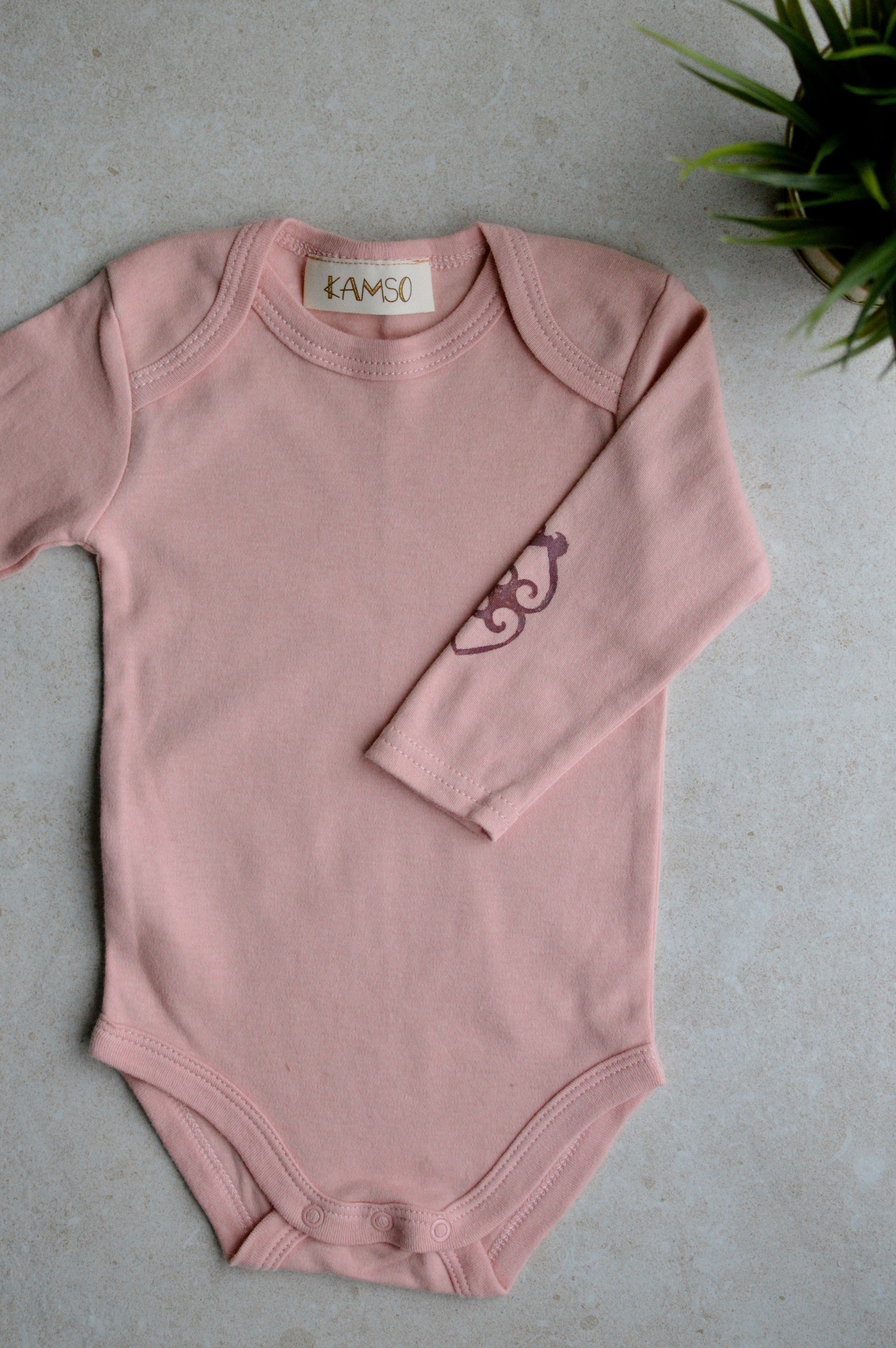 Long Sleeve Bodysuit<br> Hibiscus