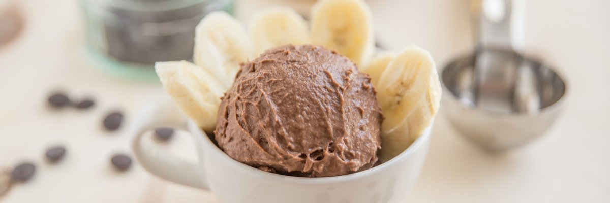 High-Protein Chocolate and Banana Ice Cream