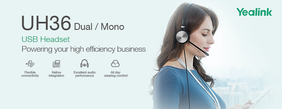 The New Yealink UH36 Dual/Mono USB Headset - Perfect for Remote Working and Offices