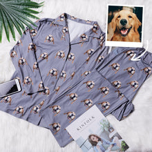 Custom Face Pajamas Long Sleeve Pajamas Dog Long Sleeve Sleepwear