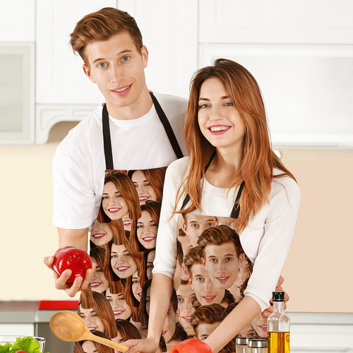 Custom Face Mash Photo Apron