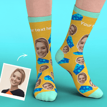 Custom Face Socks Add Pictures-Cheeses