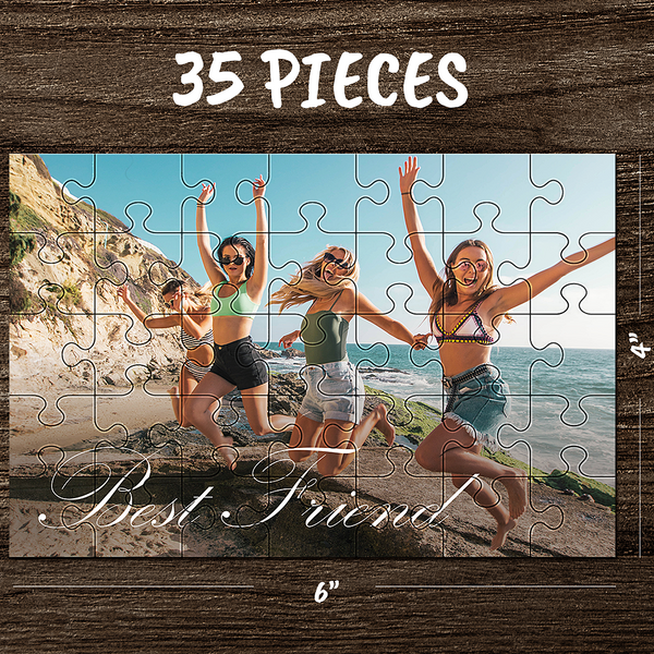 Custom Photo Jigsaw Puzzle Best Gifts I Love Mom - 35-1000 pieces