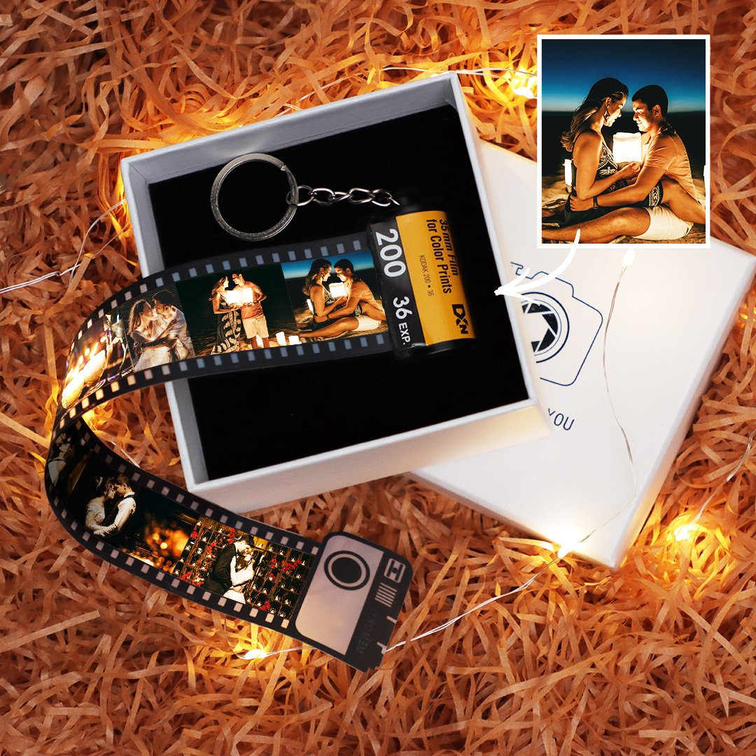 Custom Keyring Colorful Camera Roll Keychain Romantic Customized Gifts