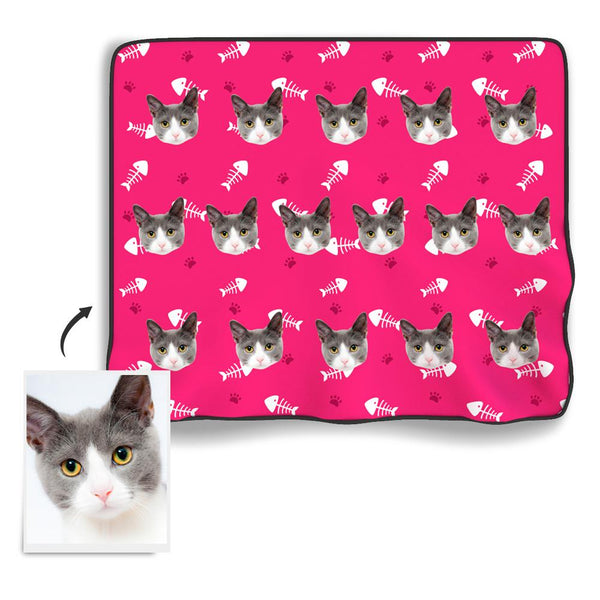 Cat Photo Blanket - Myfacesocksuk