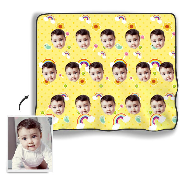 Baby Photo Blanket - Myfacesocksuk