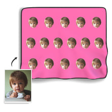 Face Colorful Photo Blanket - Myfacesocksuk