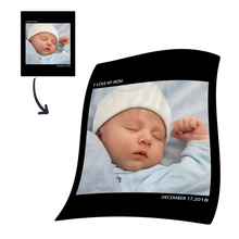 kids personalized with 1 photo fleece custom blanket
