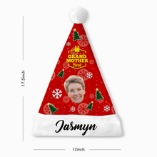 Custom Best Grandmother Face Santa Hat With Your Text