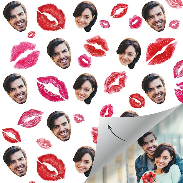 Custom Face Gift Wrap-Lip print