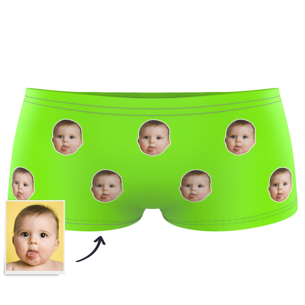 Custom Kids Colorful Face Boxer - MyPhotoSocks