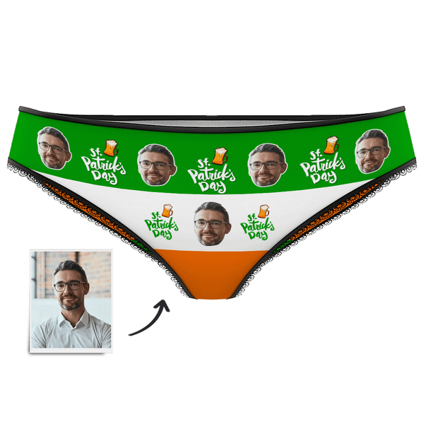 Women's Custom Face Panties - St.Patrick's Day - Myfacesocksuk