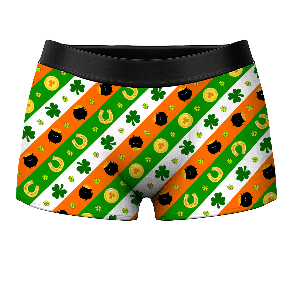 Men's Boxer Shorts - Lucky Gold Pouch - Myfacesocksuk