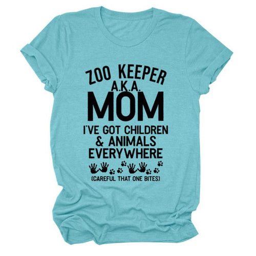 Gift For Mom - Mom shirt - ZOO KEEPER A.Z.A. MOM