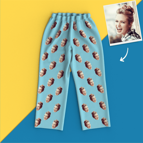Custom Face Pajamas Long Sleeve Pajamas- Dog Pyjamas