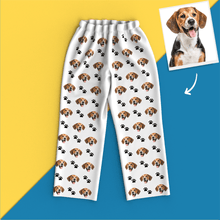 Custom Face Pajamas Long Sleeve Leisure Wear - Pet Footprint Pyjamas
