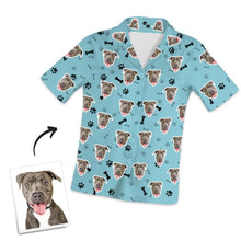 Customized Photo Short Sleeved Pajamas Home pajamas-Bone