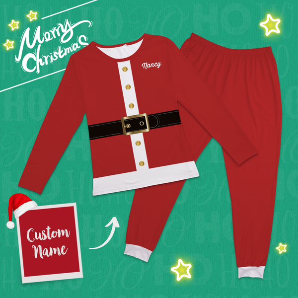 Custom Classic Christmas Santa Suits-Pajama Bottoms