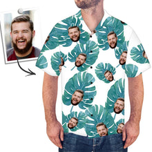 Custom Face Hawaiian Shirt Large Leaves - MyFaceSocksUK