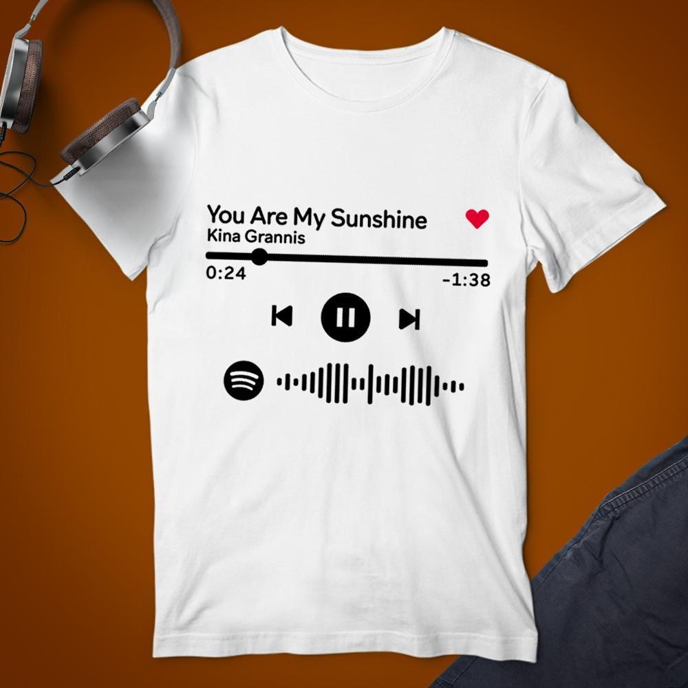 Spotify Custom Code Scannable Song Player T-Shirt White