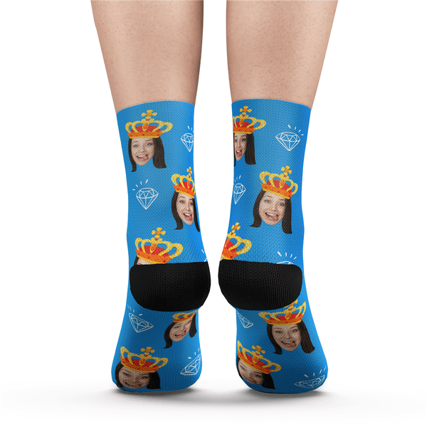 Custom face Socks Queen Crown