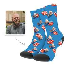 Custom Superhero Dad Socks With Your Text - Myfacesocksuk