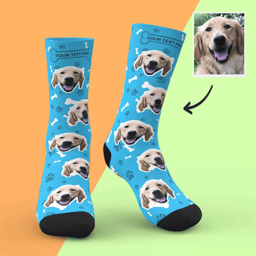 Custom Dog Socks With Your Text