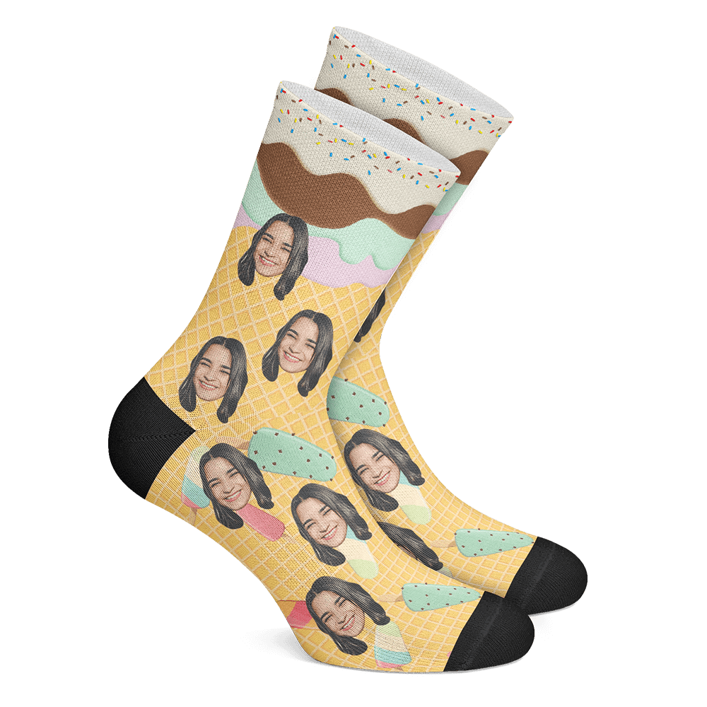 Custom Icecream Socks - Myfacesocksuk
