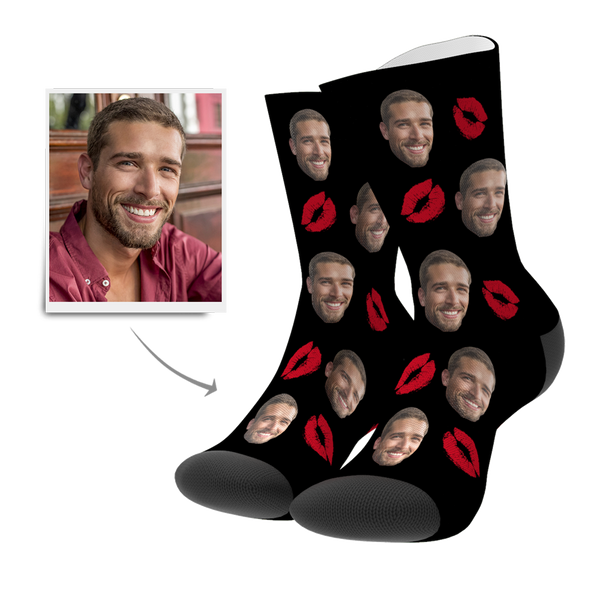 Custom Kiss Socks - MyPhotoSocks