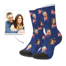 Custom Heartbeat Socks - MyPhotoSocks