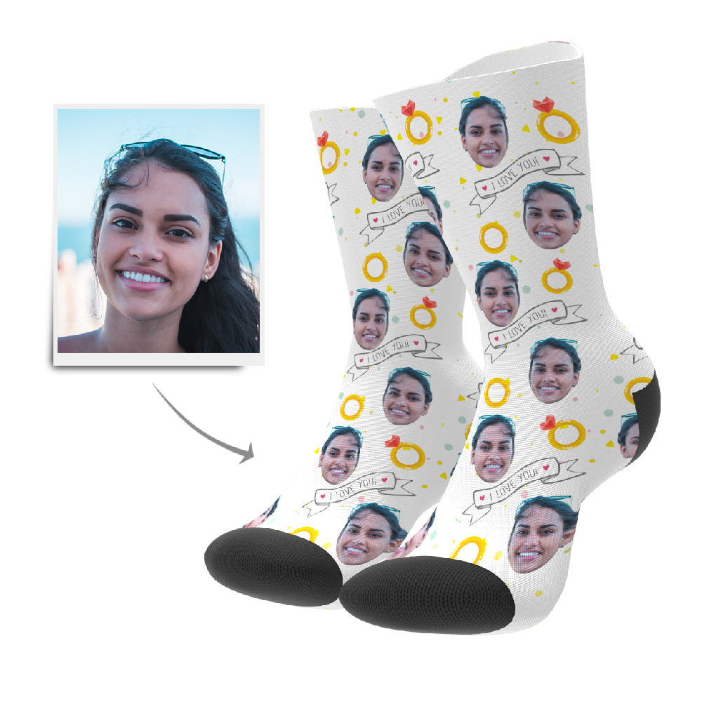 Custom I Love You Socks - Myfacesocksuk