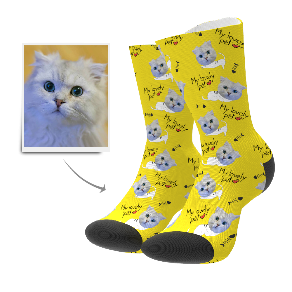 Custom Lovely Pet Socks - Myfacesocksuk