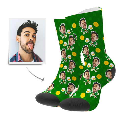 Custom St. Patrick's Day Face Socks - Myfacesocksuk