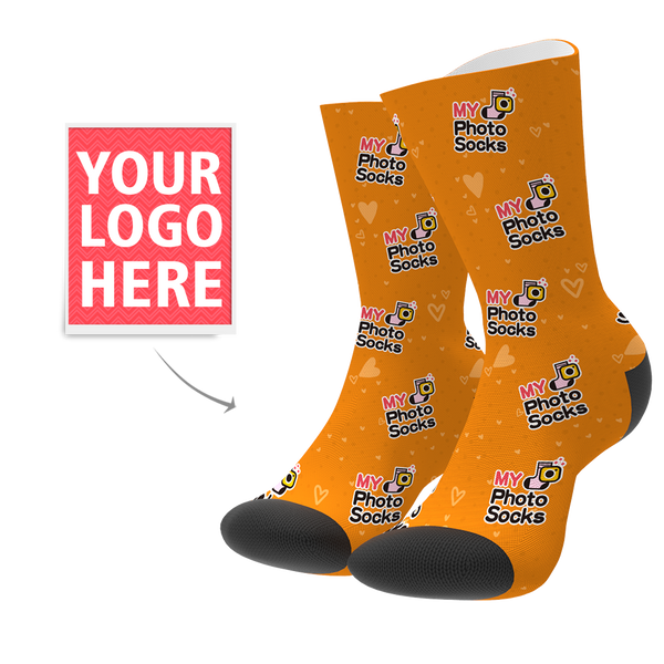 Custom Your Logo Socks - MyPhotoSocks