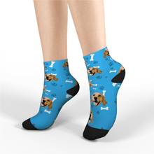 Custom Short Socks Dog - Myfacesocksuk