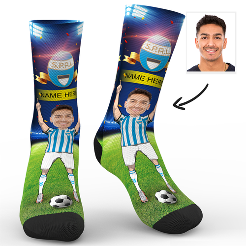 Custom Face Socks Sc Paris S.P.A.L. 2013 Superfans With Your Name
