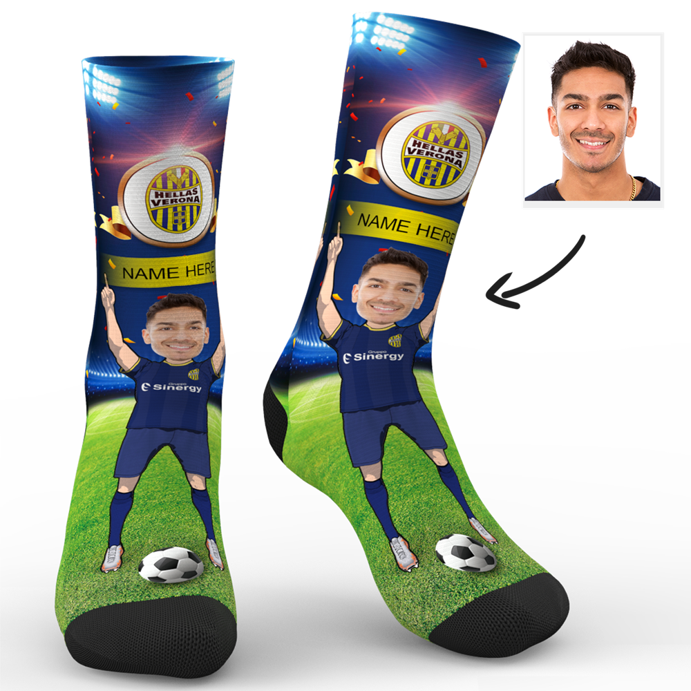 Custom Face Socks Hellas Verona F.C. Superfans With Your Name
