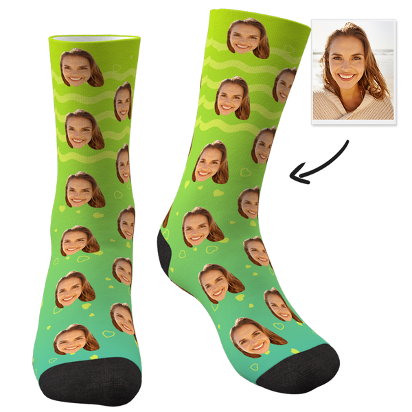 Custom Face Socks Gradient Color