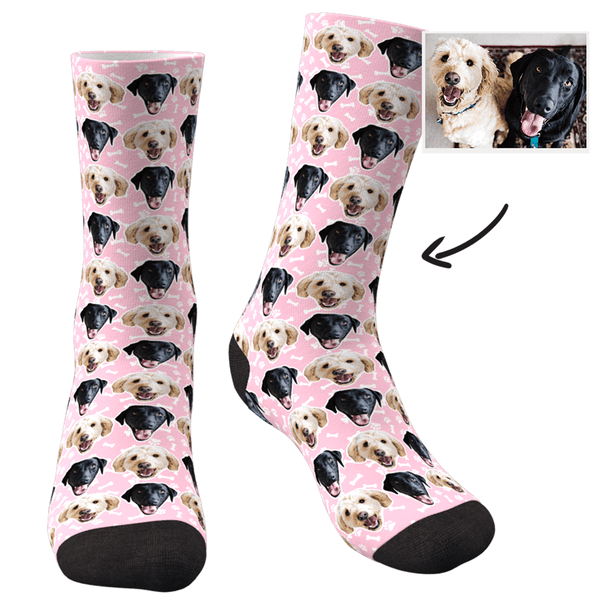 Custom Face Dog Socks Corlorful - MyFaceSocksUK