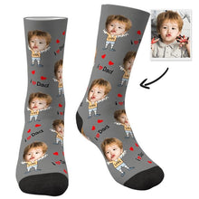 Custom Face Socks To The Dearest Dad-MyFaceSocksUK