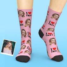 Custom Face Socks Add Pictures And Name I Love Mom