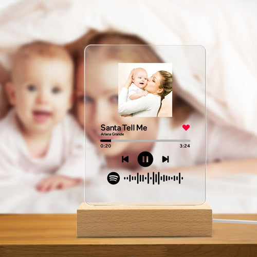 Personalized Spotify Code Music Plaque Night Light(5.9in x 7.7in)