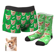 Custom Dog Boxer Shorts And Socks Set