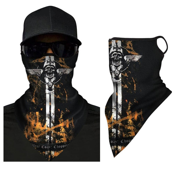 Quick-Drying Sports Bandana Cycling Scarf Neck Warmer Bicycle Triangle Bandana  - MyFaceSocksUK