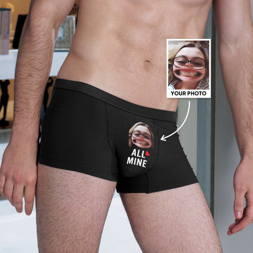 Custom Face Men's Funny Photo Boxer All Mine