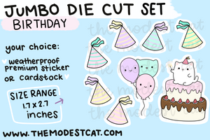 Birthday Mallow Die Cut Set